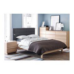 OPPLAND 2-drawer chest - oak veneer - IKEA