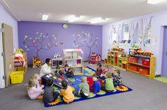 #GreenAppleDaycare #Childcare #Education #Children #Learning Kindergarten Classroom Setup, Kindergarten Interior, Classroom Decor, Church Nursery, Nursery Room, Childcare Decor, Kids Room Wall Decals, Summer Fun For Kids, Home Daycare