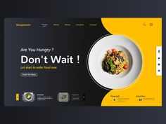 restaurant website Concept of website restaurant design by Mustofa Amar Site Web Design, Food Web Design, Graphisches Design, Website Design Layout, Web Design Trends, Menu Design, Page Design, Layout Design, Modern Web Design