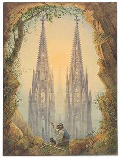 """visión de las torres  completas de la Catedral de Colonia / And finally they're ready!, vision of the completed Towers of Cologne Cathedral"""" Wallraf-Richartz-Museum & Fondation Corboud (Köln / Colonia, Alemania"""
