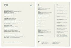 A division of UnderConsideration, cataloguing the underrated creativity of menus from around the world. Food Menu Design, Restaurant Menu Design, Logo Restaurant, Hotel Menu, Menu Layout, Menu Boards, Cocktail, Editorial Design, Layout Design