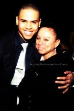 Chris Brown and his Mom.