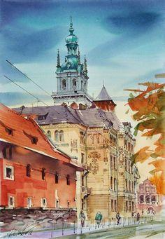 Lviv (Ukraine) / watercolor on paper / 30 x 40 cm, 2010