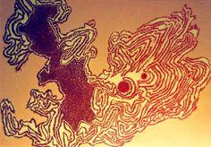 "Serie ""Corteza 1"", grabado en poliestireno extendido, 2008. Autor: Fco. Galindo."
