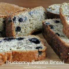 Moist Gluten-Free Banana Bread is something that can be enjoyed by Everyone. Almond flour and maple syrup help make this quick bread perfection.  Moist Gluten Free Banana Bread is something that can be enjoyed by everyone. I mean Everyone! I have been wanting to create some recipes using almond flour – just because. Because I … Blueberry Banana Bread, Gluten Free Banana Bread, Banana Bread Recipes, Vegan Blueberry, Vegan Bread, Vegan Butter, Yummy Treats, Delicious Desserts, Yummy Food