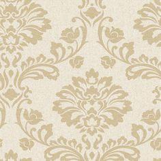 Aurora Beige and Gold Wallpaper