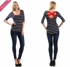 T1003 Striped X back top