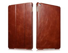 iCarer iPad Air 2/iPad 6 Vintage Series Genuine Leather Stand Case Cover