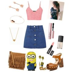 day outfit by xxfrozengirlxx on Polyvore featuring polyvore fashion style maurices Miss Selfridge River Island Polo Ralph Lauren Pamela Love Aamaya by priyanka Minnie Grace Too Faced Cosmetics