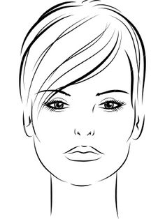Sketch Hair woman with short hair 02 Royalty Free Stock Vector Art Illustration - Illustration Fashion Illustration Template, Fashion Illustration Face, Illustration Art, Hair Sketch, Sketch A Day, How To Draw Eyebrows, How To Draw Hair, Realistic Cartoons, Portraits