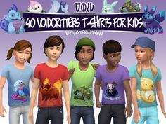 40 Void creatures T-shirts for kids by Waterwoman at Akisima • Sims 4 Updates