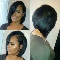 """SALON FEATURE| Super cute #bob styled by #Atlsalon @kbbsalon ❤️ Simple yet classic #voiceofhair"" ========================= Go to VoiceOfHair.com ========================= Find hairstyles and hair tips! ========================="