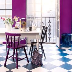 Pers in perspektief Photographer Helena Grier Rautenbach 2008 Colorful Interior Design, Colorful Decor, Colorful Interiors, Room Colors, House Colors, Crazy Home, Deco Furniture, Ideal Home, Wall Design
