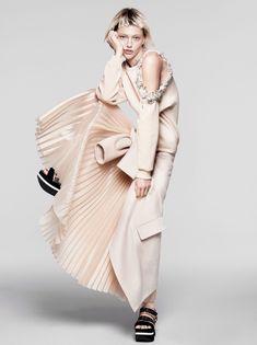 Model Sasha Pivovarova; Photographed by David Sims; Stylist Camilla Nickerson; Hair Guido; Makeup Yadim.