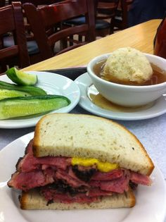 Lunch at Katz's Deli on Houston in the Lower East Side