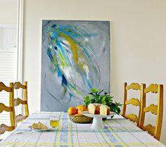 Large Abstract Art  Gray wall art  Contemporary art by ArtbyHeroux on Etsy, $399.00