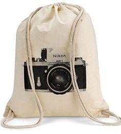 "Turnbeutel // Tote bag ""Nikon"" by Hamsibamsi via DaWanda.com"