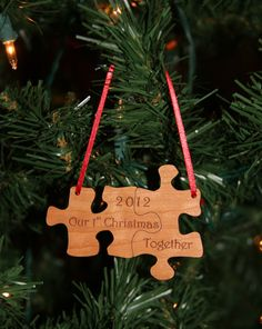 Our First Christmas Together Puzzle Ornament by TheCreativeLaser.