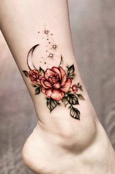 rose foot tattoos for women ~ rose foot tattoo ; rose foot tattoos for women ; rose foot tattoo cover up ; rose foot tattoos for women small ; Tattoo Platzierung, Make Tattoo, Piercing Tattoo, Body Art Tattoos, Sleeve Tattoos, Tatoos, Tattoo Moon, Mini Tattoos, Luna Tattoo