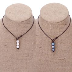 ETS-S272 -- Aobei Pearl Handmade Necklace with Freshwater Pearl and Genuine Leather Cord