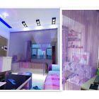 Modern Decor String Tassel Door Curtain with 3 Beads Window Room Divider Purple
