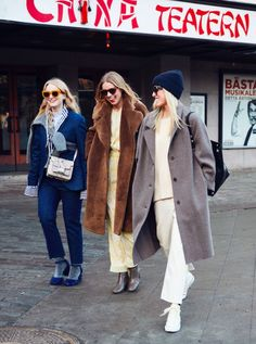 . . Stockholm Fashion Week Street Style . .