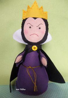 Snow White's evil queen in felt