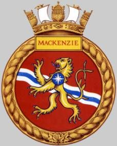 HMCS Mackenzie - The Mackenzie class destroyer was a Canadian designed and built… Royal Canadian Navy, Royal Navy, Navy Badges, Navy Day, Banner, Emblem, Military Police, Navy Ships, Coat Of Arms