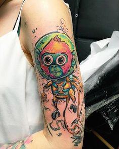 Bebê macaco no espaço