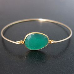 BLISS - i heartmonday.>>Green Onyx Bracelet by Frosted Willow