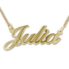 fff97edea327 Personalized Classic Name Necklace in 18k Gold Plating