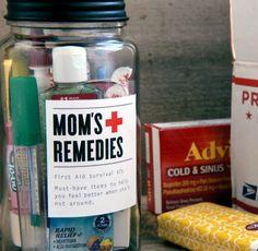 Mom's Remedies: College Survival Kit Craft - DIY and crafts College Survival, Survival Prepping, Survival Kits, Emergency Preparedness, Lone Survivor Quotes, Creative Crafts, Diy Crafts, Feeling Under The Weather, Grad Parties