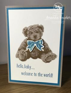 Inspiring Inkin' Baby bear Amanda Fowler Stampin' Up! UK
