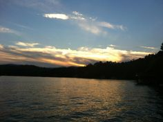 Sunset on Lake Burton. Summer can't come fast enough.
