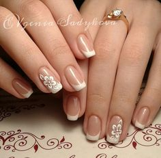 25 splendid french manicure designs classic nail art jazzed up 13 French Manicure Nails, French Tip Nails, French Nail Art, Acrylic Nails, Gel Nails, Nail Polish, French Nail Designs, Nail Art Designs, Bride Nails