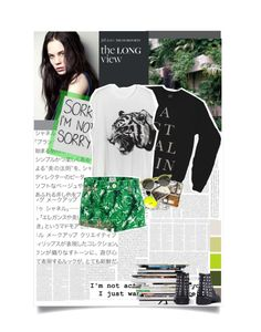 """i just want you to care"" by queendom-trash ❤ liked on Polyvore"