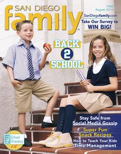 "August 2014: The annual back-to-school issue, including our Fall School Directory, kid-tested supplies that put the ""cool"" in school and much more."