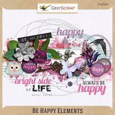 Be Happy - Elements by Giny Scrap