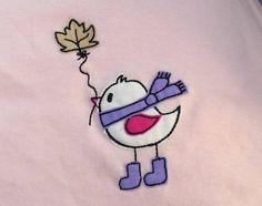 Herbst-Vogel Doodle 10x10 *Freebie