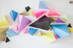 easy geometric paper backdrop