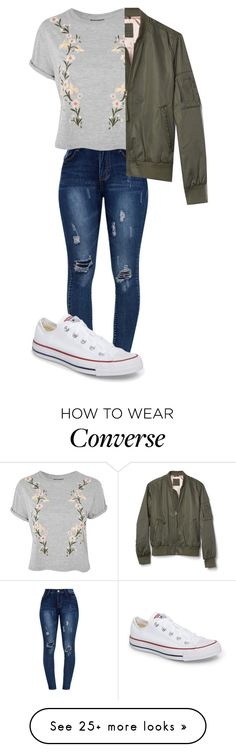"""Untitled #443"" by ambyclark on Polyvore featuring Topshop and Converse"