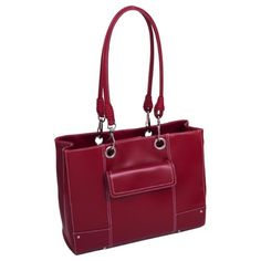 McKleinUSA SERENA 11096 Red Faux Leather Ladies' Business Tote - Brought to you by Avarsha.com