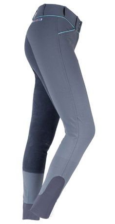 Horze Grand Prix Extended Patch Breech - Offer Grand Prix level styling with synthetic leather extended knee patches with vertical stretch. Elastic leg bottoms and contrast color piping.