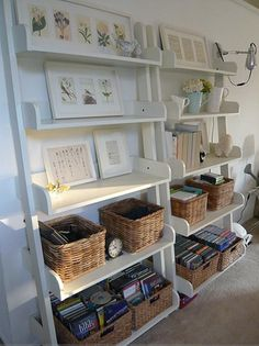 Get better baskets for my bookcase