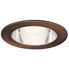 """WAC 6"""" Downlight Clear Reflector Copper Recessed Trim ($22) ❤ liked on Polyvore featuring home, lighting, light, recessed lighting, copper lights, copper lamp, copper light and wac lighting"""