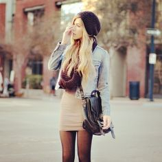My two favorite fall accessories: a [beanie] hat and scarf! I love this whole outfit!