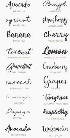 Tipos De Letras Para Invitaciones Lettering Lettering Fonts Y