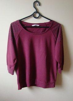 Kup mój przedmiot na #vintedpl http://www.vinted.pl/damska-odziez/bluzy/10445986-bordowa-bluza-ca