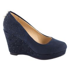 Pantofi cu platforma D76-DARK BLUE -  Reducere 50% - Zibra.ro Wedges, Shoes, Fashion, Moda, Zapatos, Shoes Outlet, Fashion Styles, Shoe, Footwear