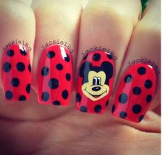 Cute Mickey nails for Otown
